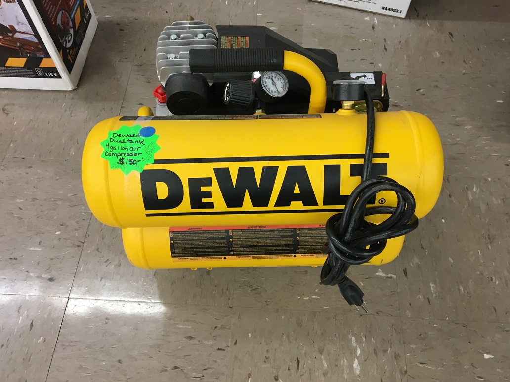 DeWalt 4 Gallon Dual Tank Air Compressor